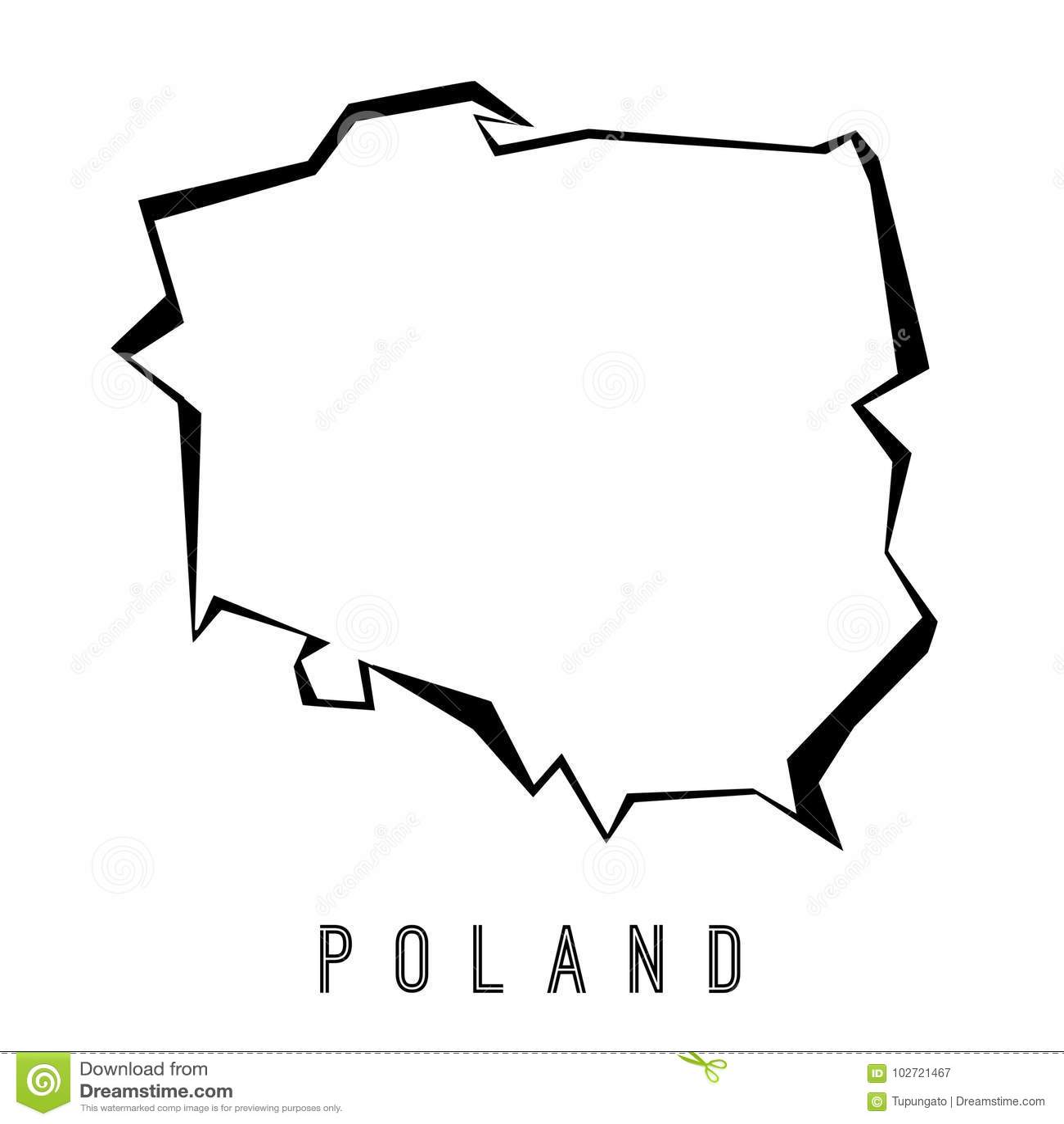 Poland polygonal map