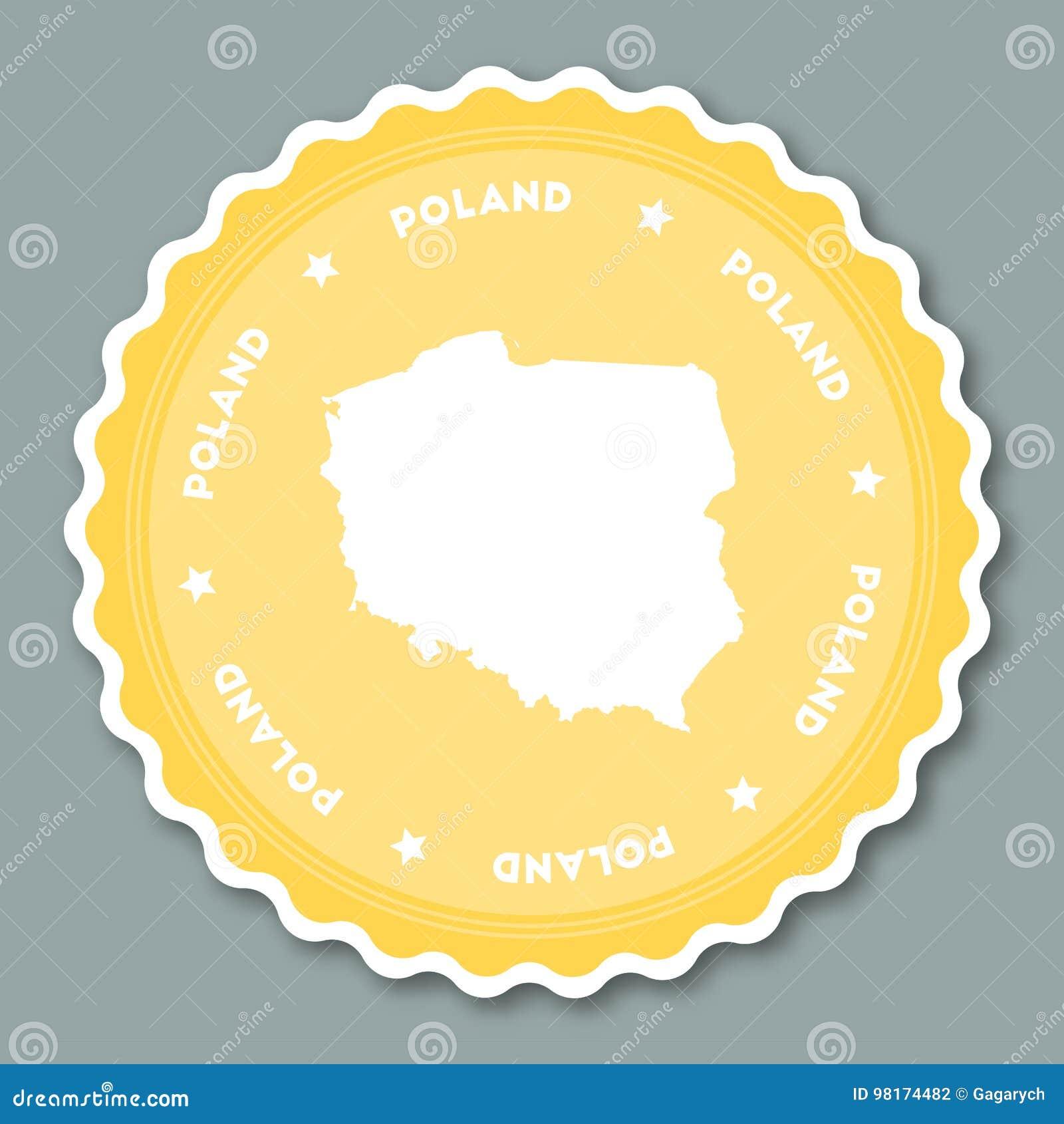 Poland sticker flat design.