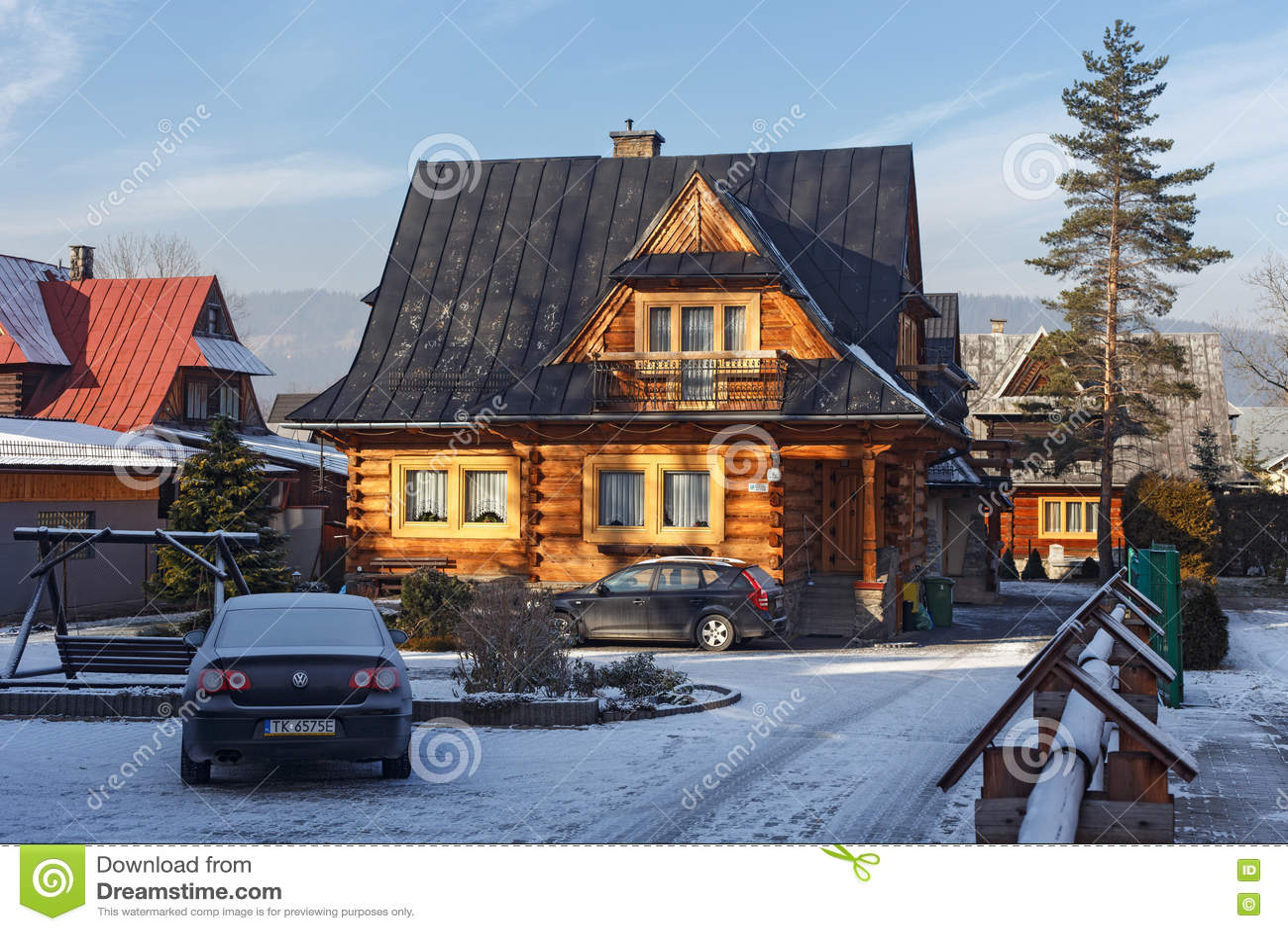 Traditional wooden house in zakopane editorial photo 46014733 - Traditional polish houses wood mastership ...