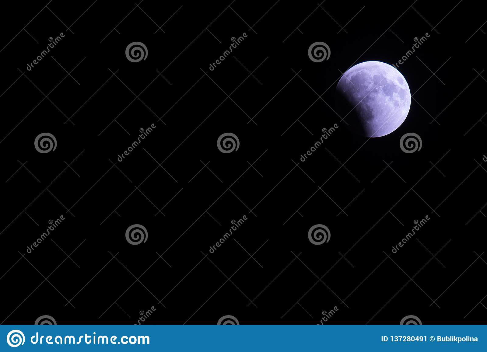 Polar arctic full red super moon eclipse sky star in Norway Svalbard in Longyearbyen city mountains