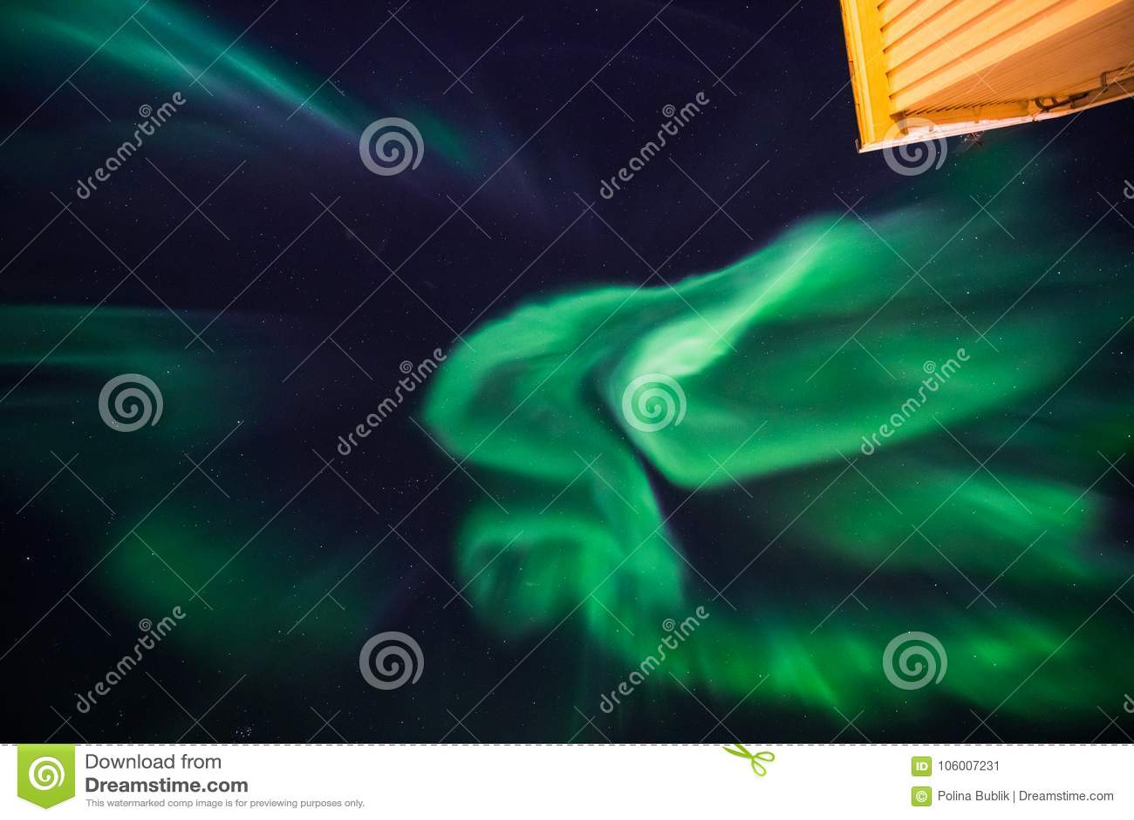 The Polar Arctic Northern Lights Aurora Borealis Sky Star In