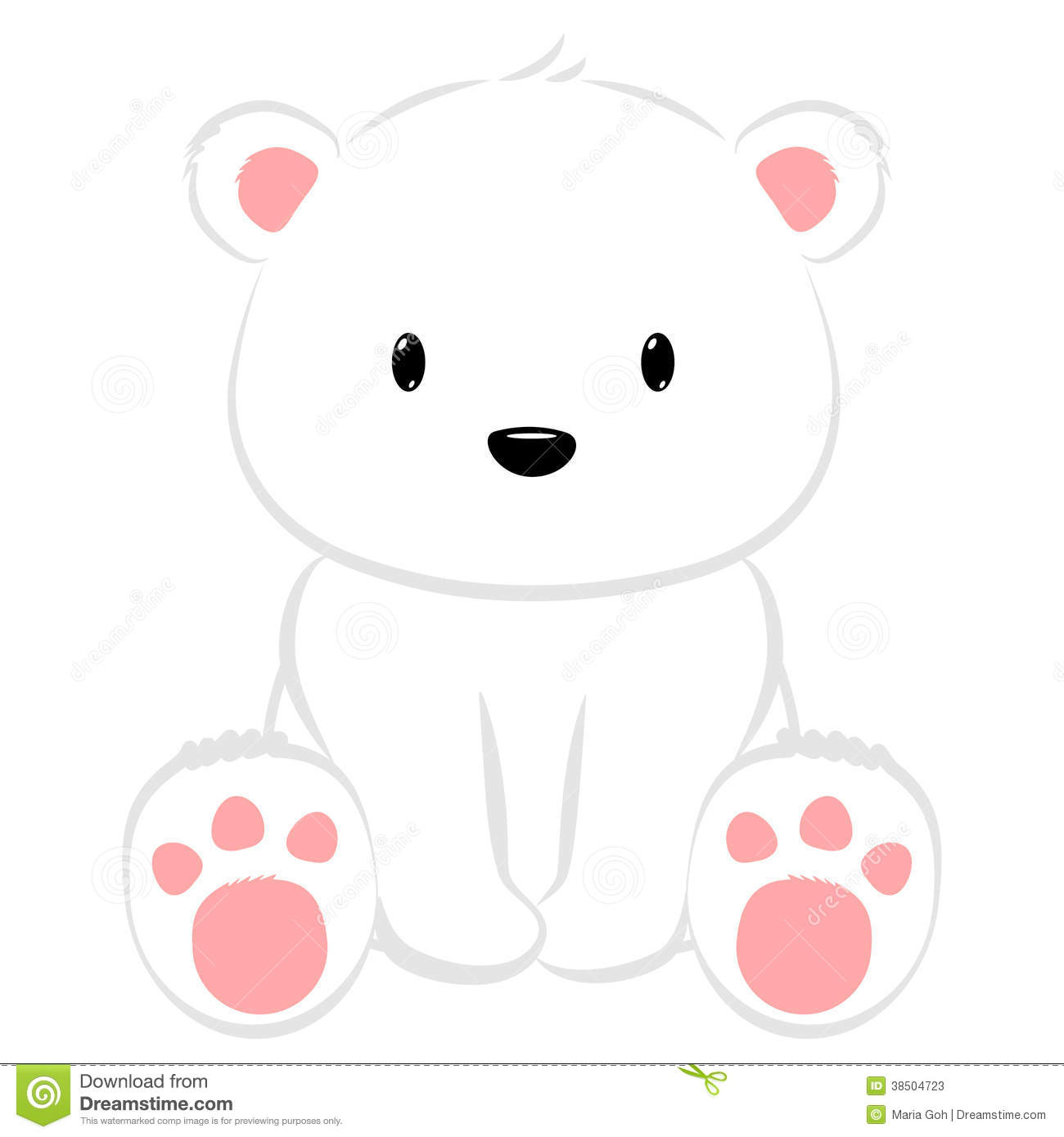 Cute cartoon polar bear cubs - photo#11