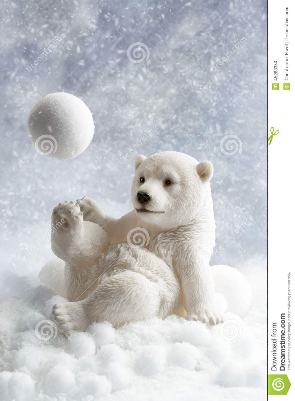 polar bear decoration stock photo image of ornament. Black Bedroom Furniture Sets. Home Design Ideas