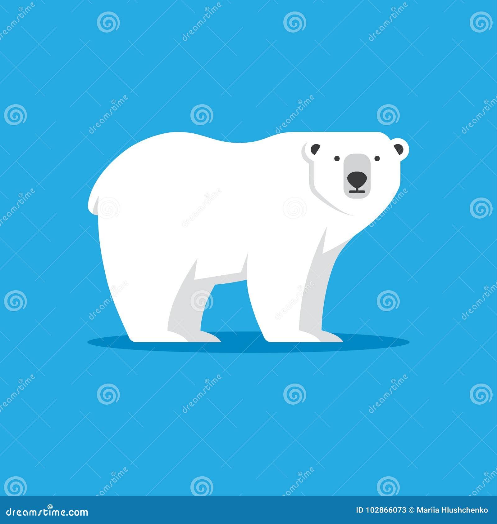 polar bear icon in flat style stock vector illustration. Black Bedroom Furniture Sets. Home Design Ideas