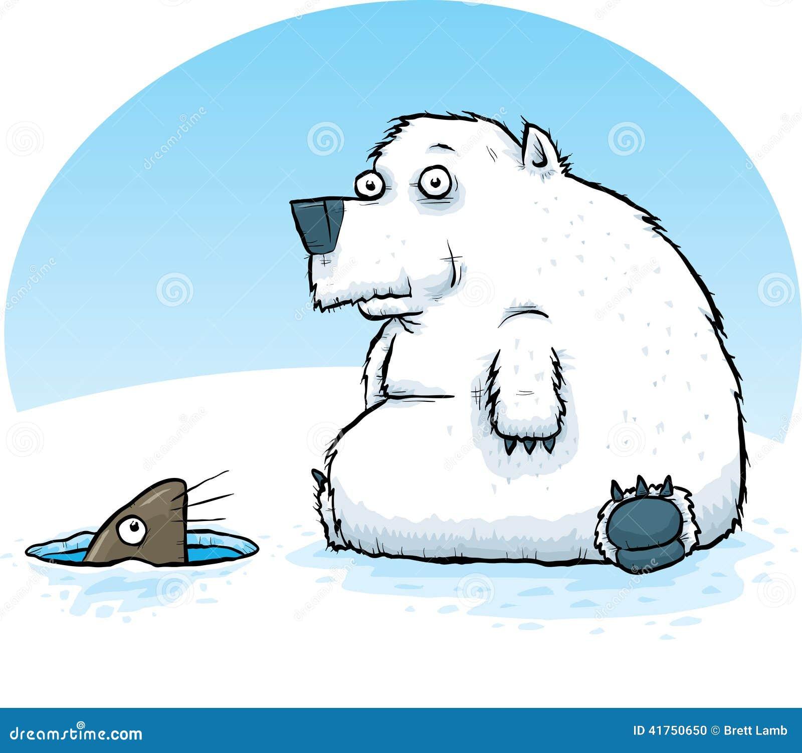 polar bear and seal stock illustration illustration of hole 41750650 rh dreamstime com