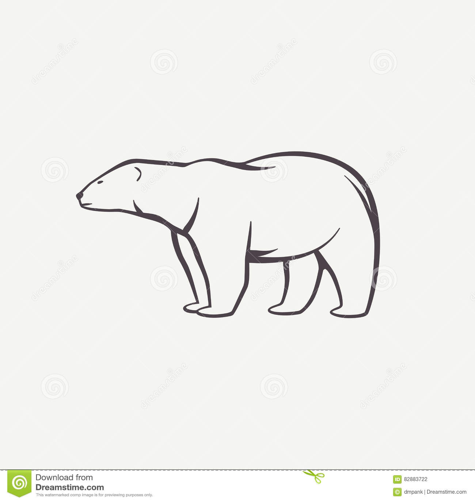 polar bear symbol stock vector image 82883722