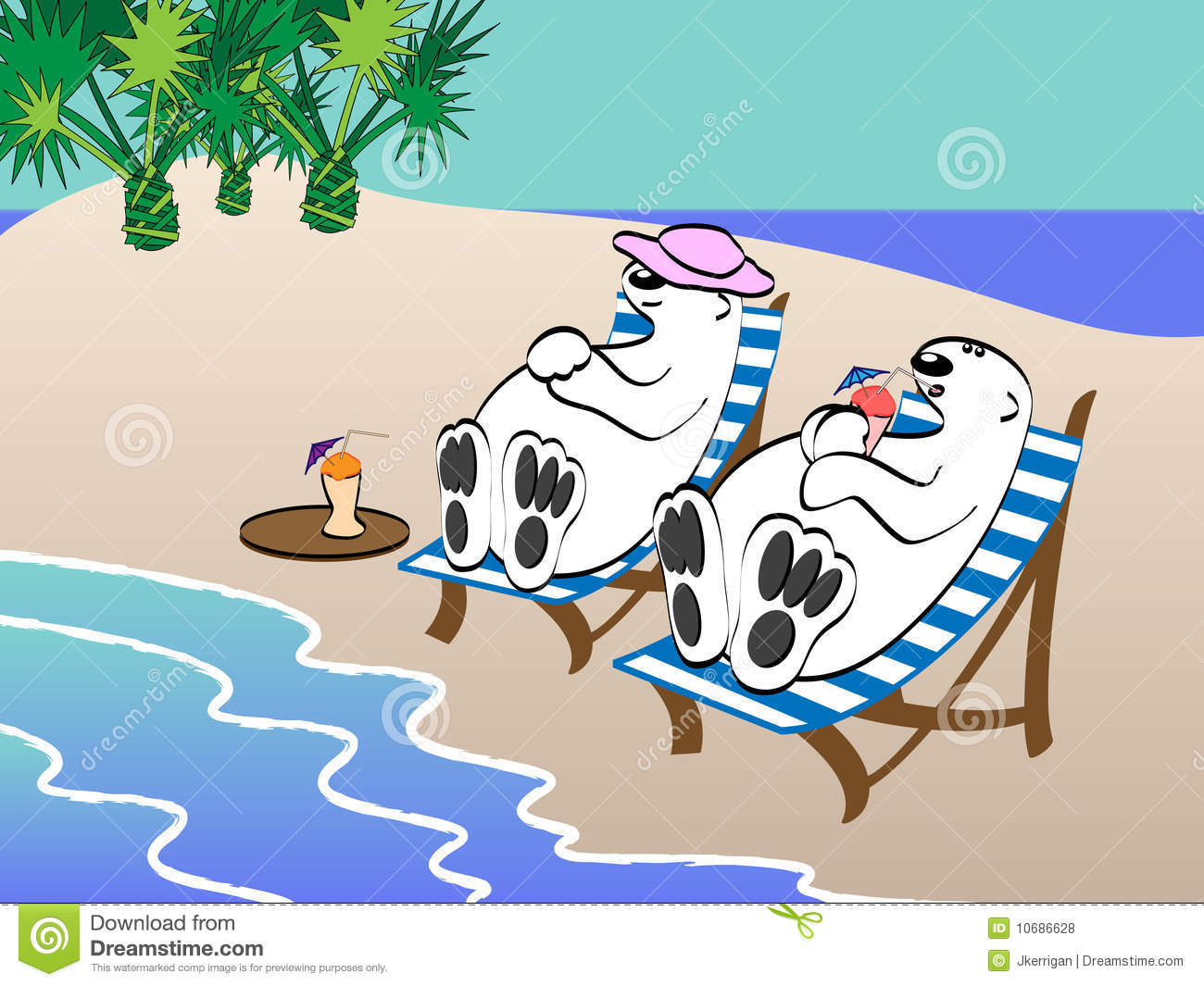 Polar Bears On Vacation Royalty Free Stock Photos - Image: 10686628