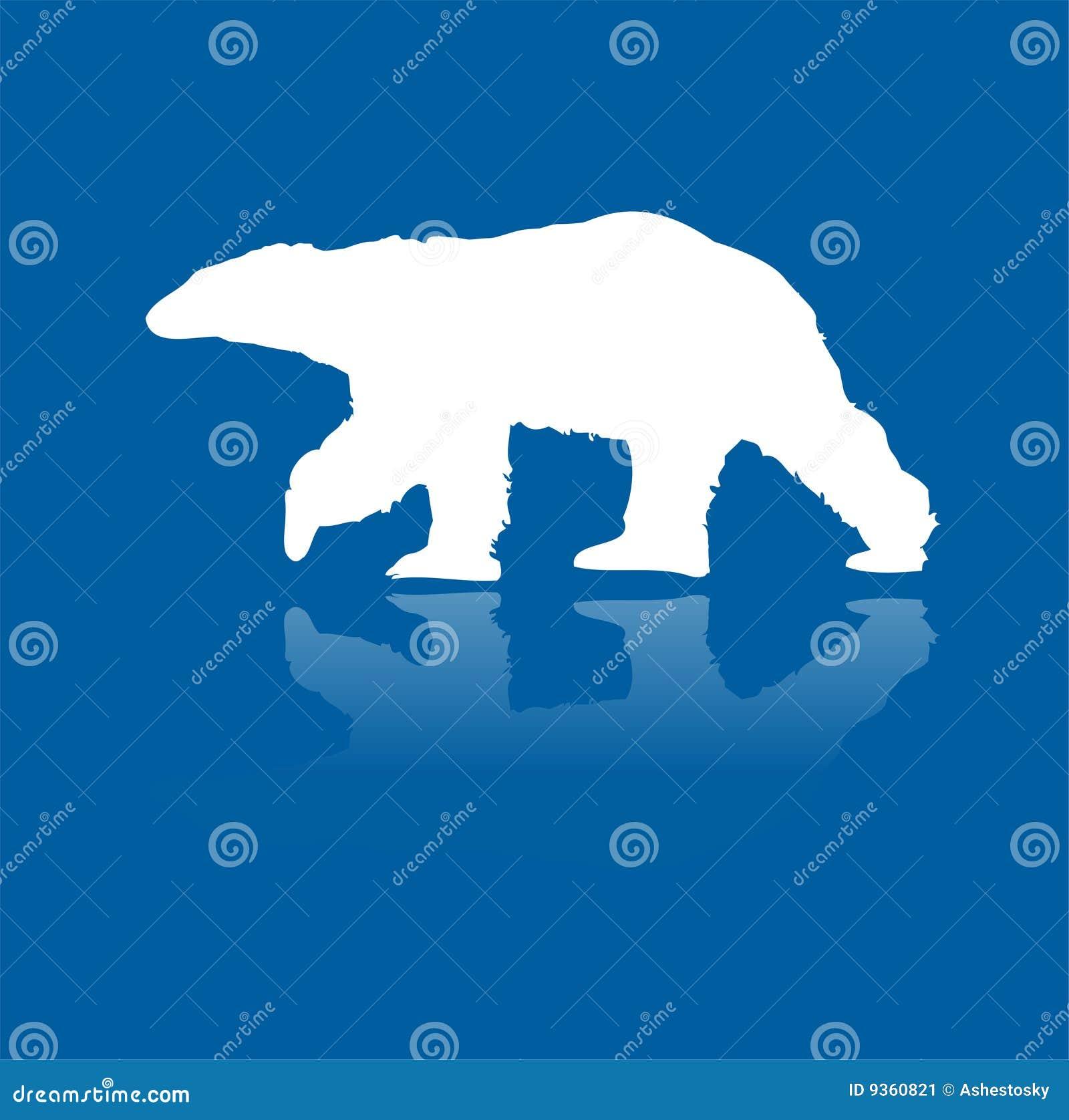 Polar refiera la silueta del vector del hielo