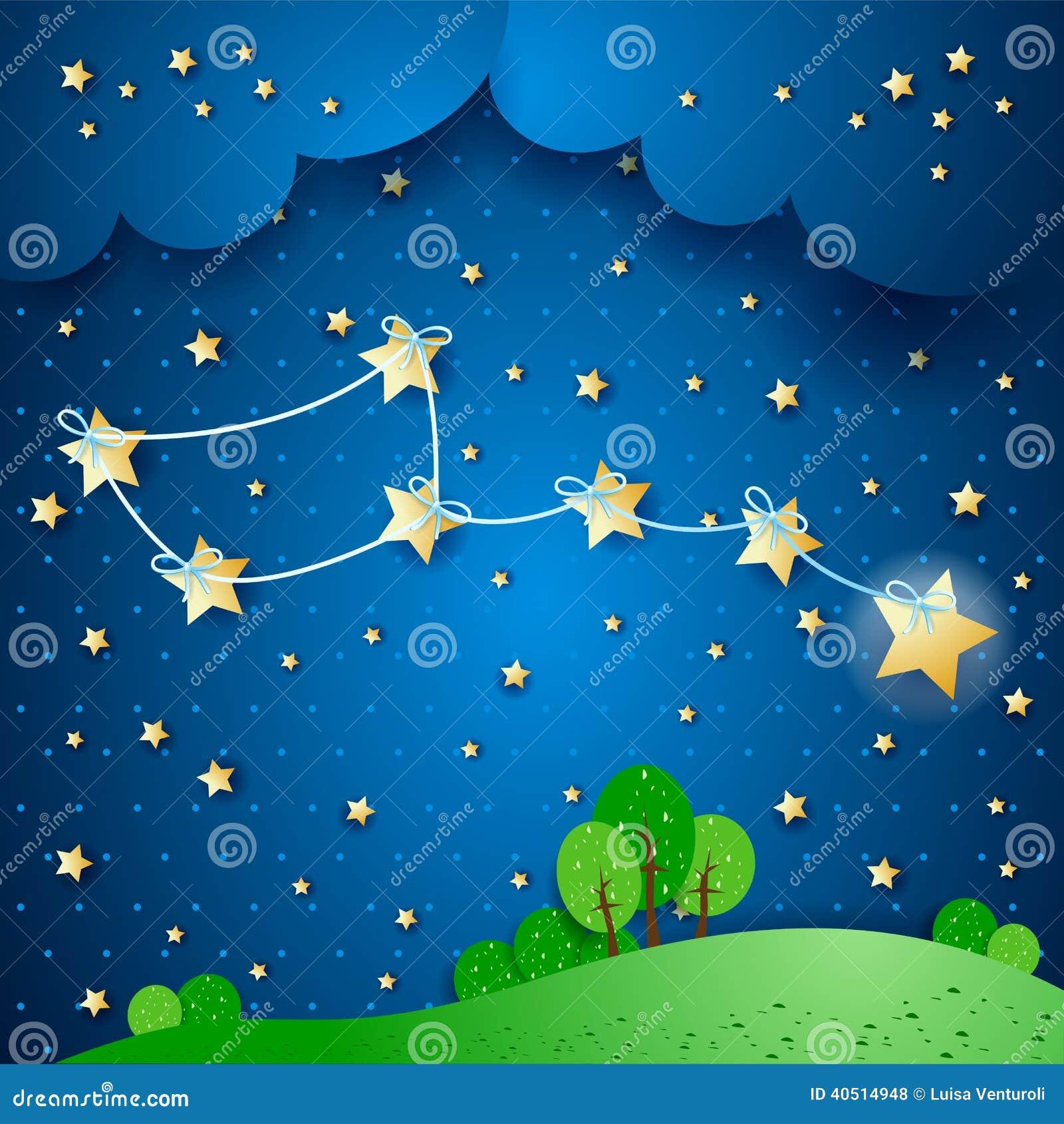 Download Polar Star Fantasy Illustration Stock Vector