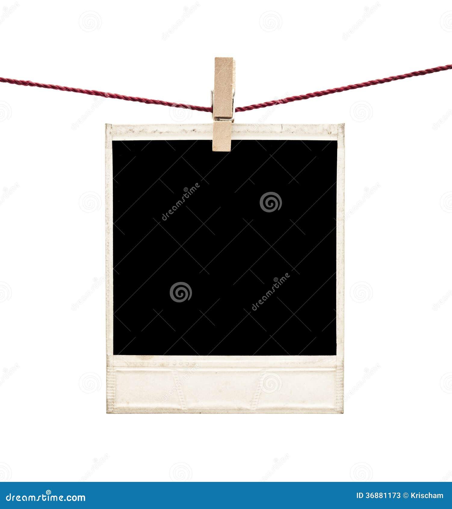 Download Polaroid immagine stock. Immagine di corda, vuoto, fotographia - 36881173