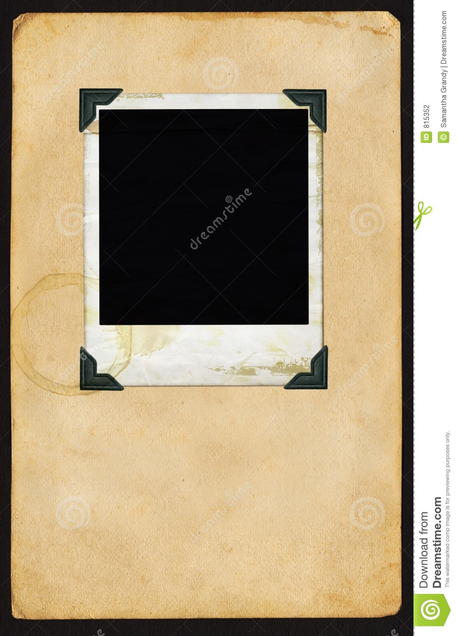 polaroid auf seite stockfotografie bild 815352. Black Bedroom Furniture Sets. Home Design Ideas