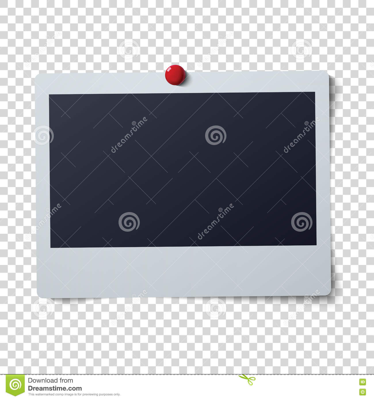 polaroid frame vector illustration single instant photo with black space for image stock photography