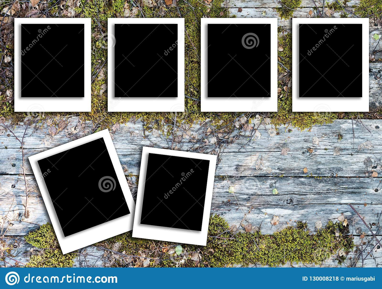 Polaroid Pattern For Photo Frames With Background Texture Stock Photo - Image of card, picture ...