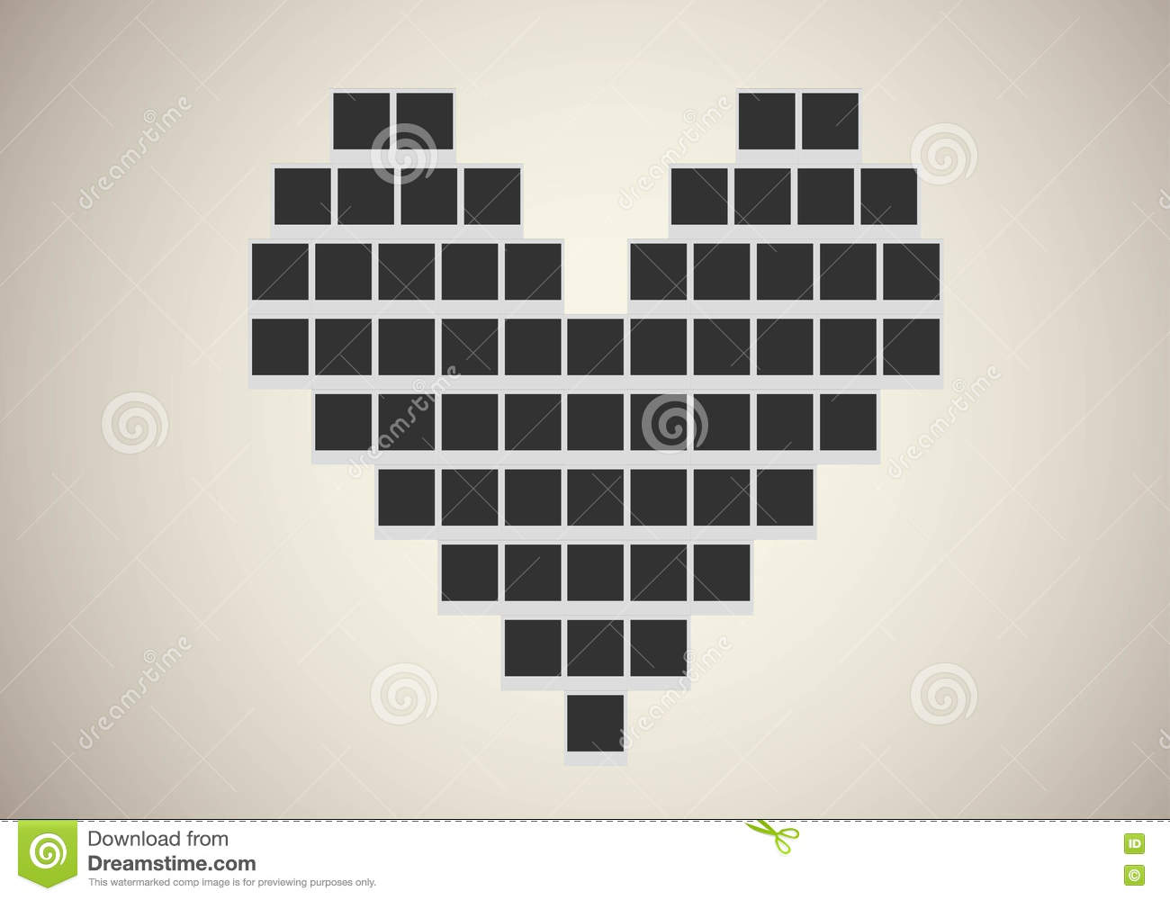 Exceptionnel Polaroid Photo Frame In Heart Shape Stock Vector - Image: 73024733 ES75