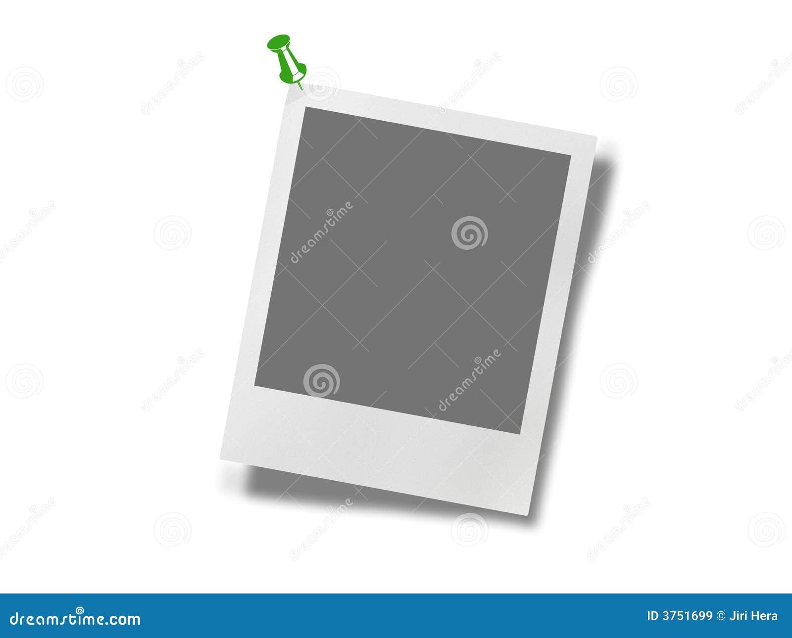 Polaroid Photo Frame With Pin Stock Illustration Image