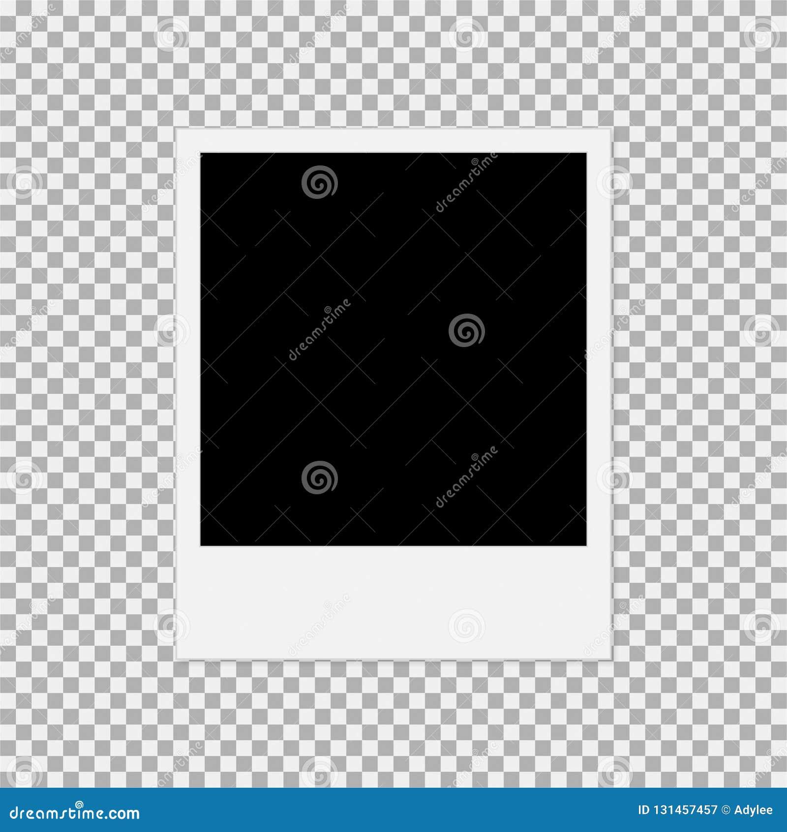polaroid photo frame vector illustration 1