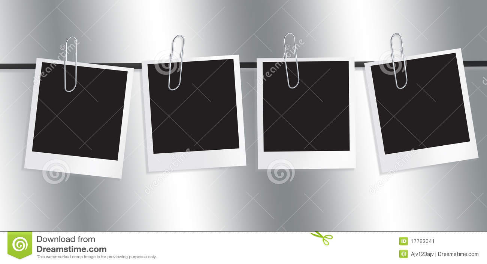 Polaroidfilm-Feld-Zeile