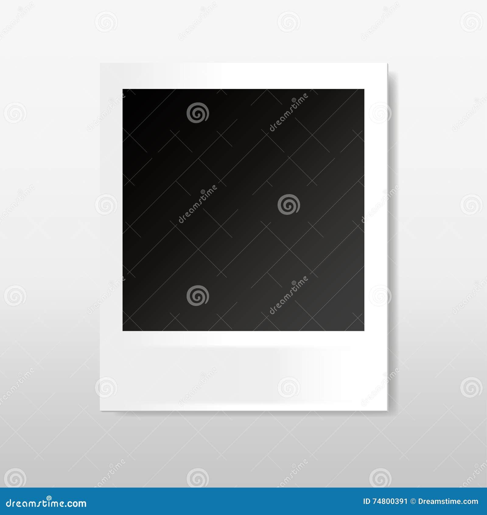 Polaroidrahmen Für Ihren Text Oder Foto Vektor Abbildung ...
