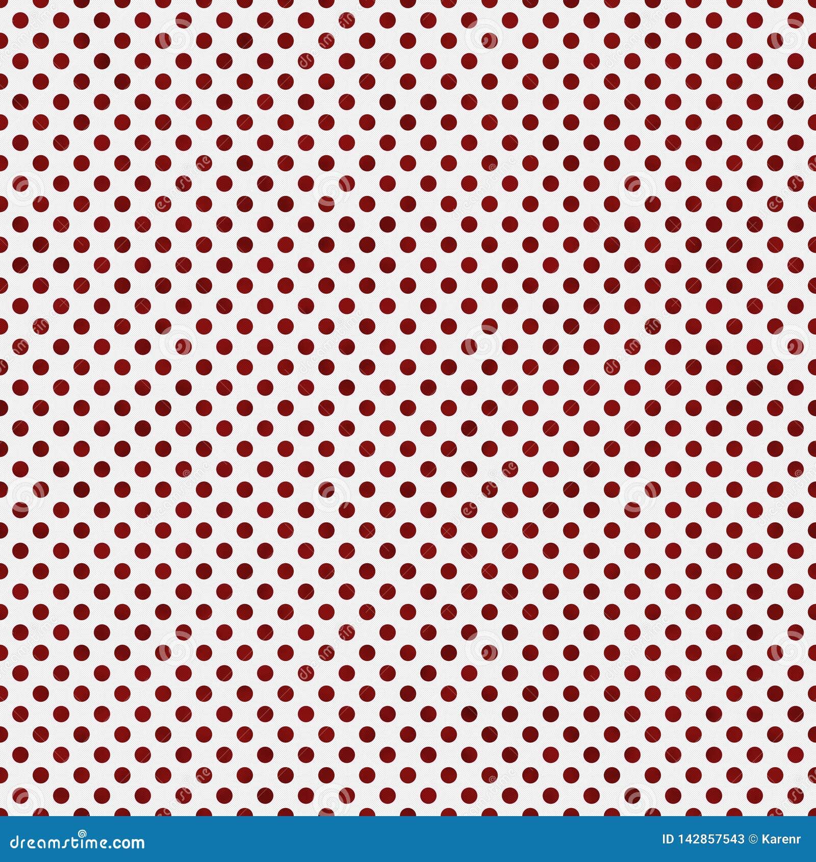 Polca pequena vermelha e branca Dots Pattern Repeat Background