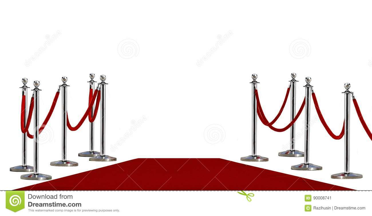 Pole barricade and red carpet