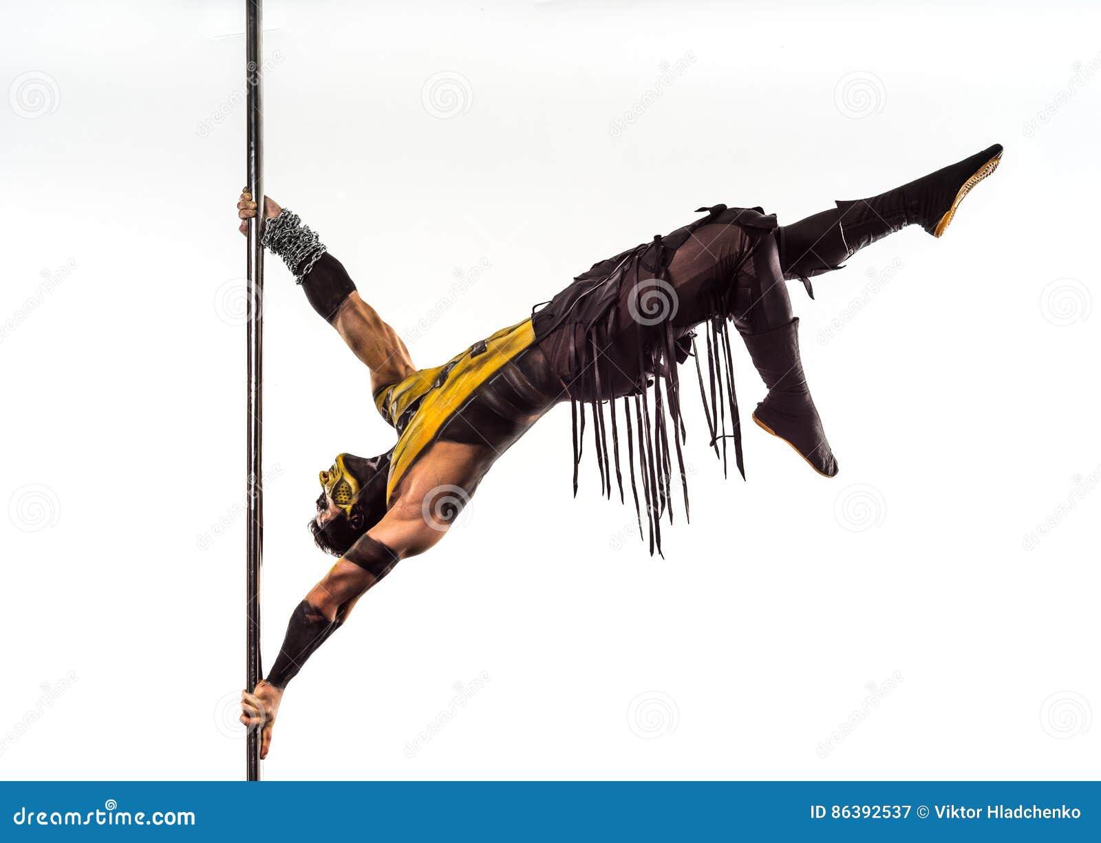 On The Pole Bodyart Scorpion Stock Image - Image of posing, body