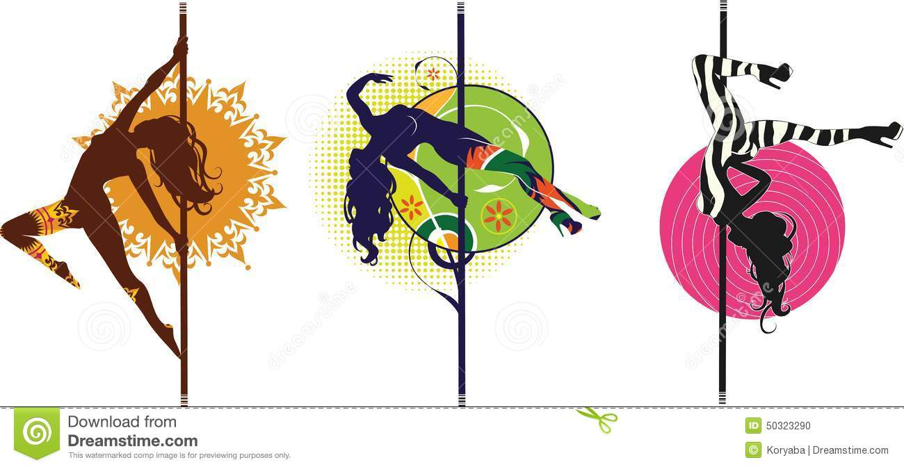 Pole Dance Logos Stock Vector Image 50323290