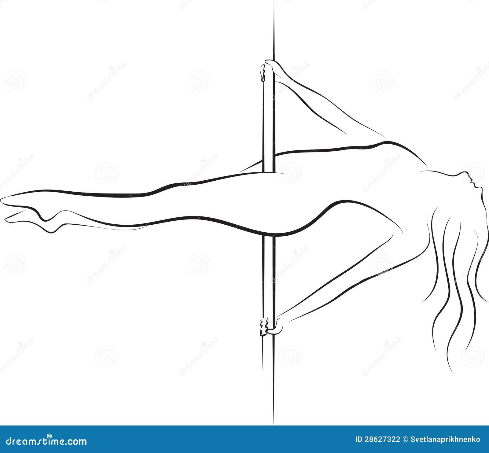 pole dancer stock vector illustration of gymnastic dancing 28627322