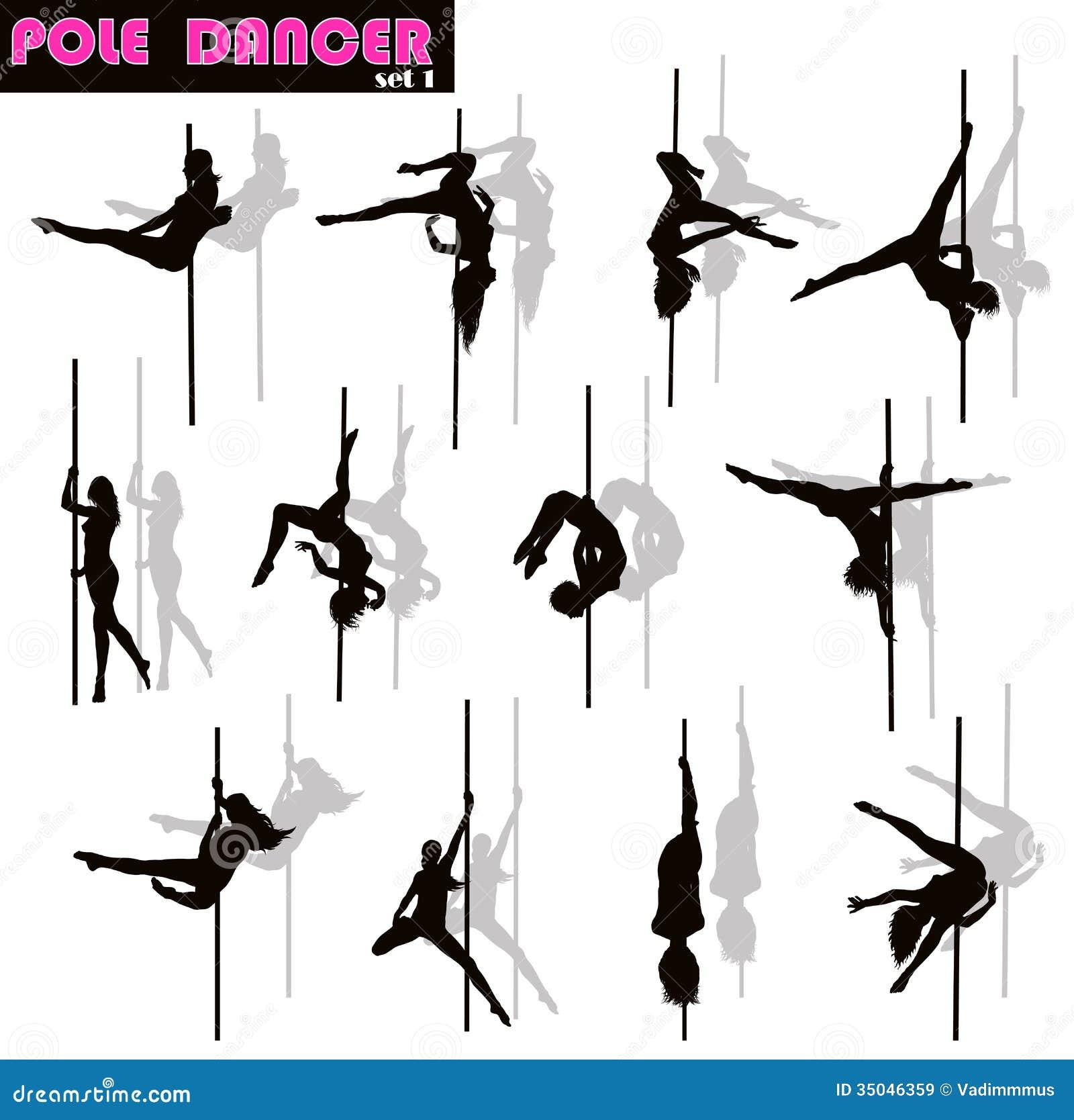Pole dancer set