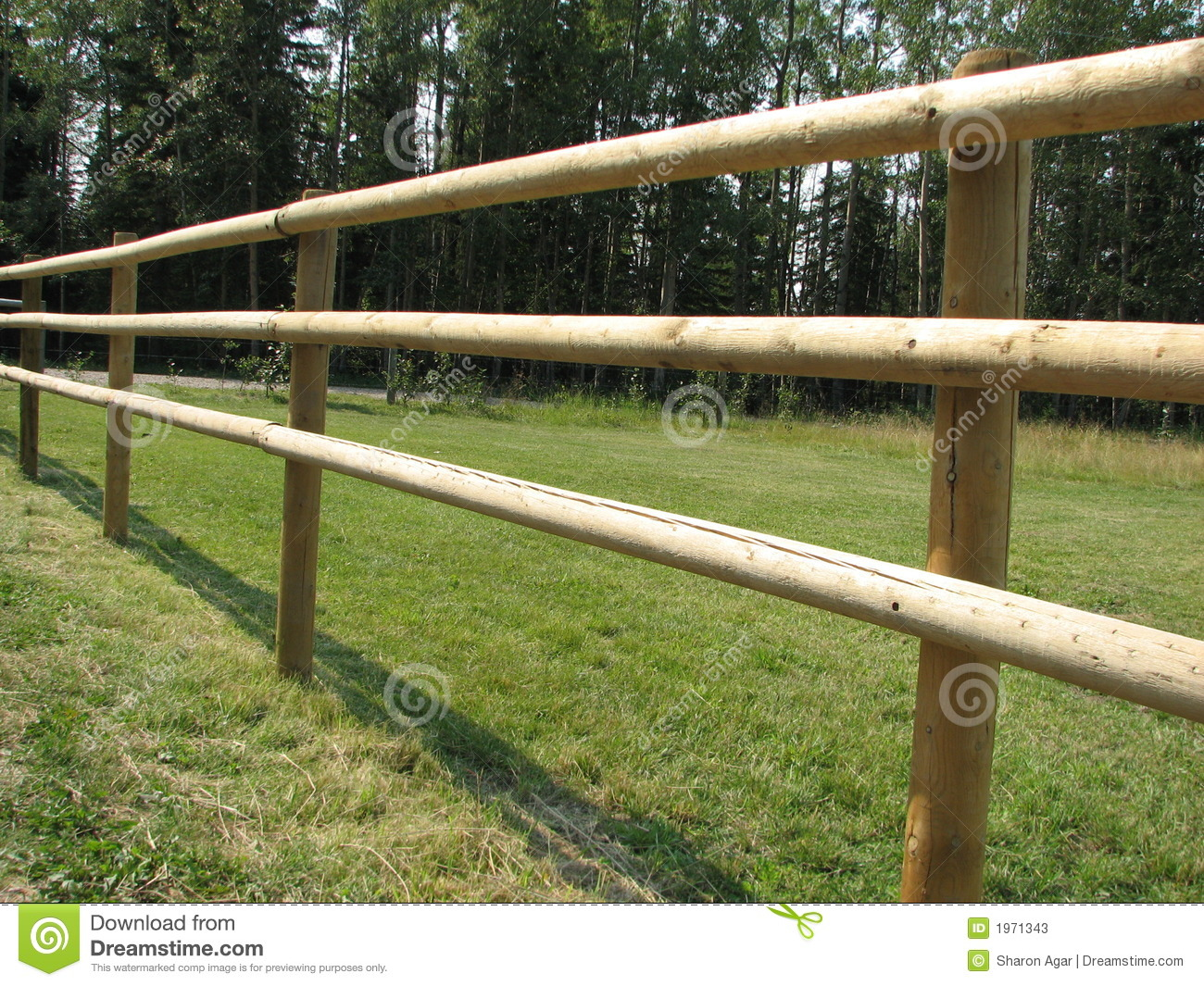 Pole Fence Stock Image Image Of Field Enclosure Wooden