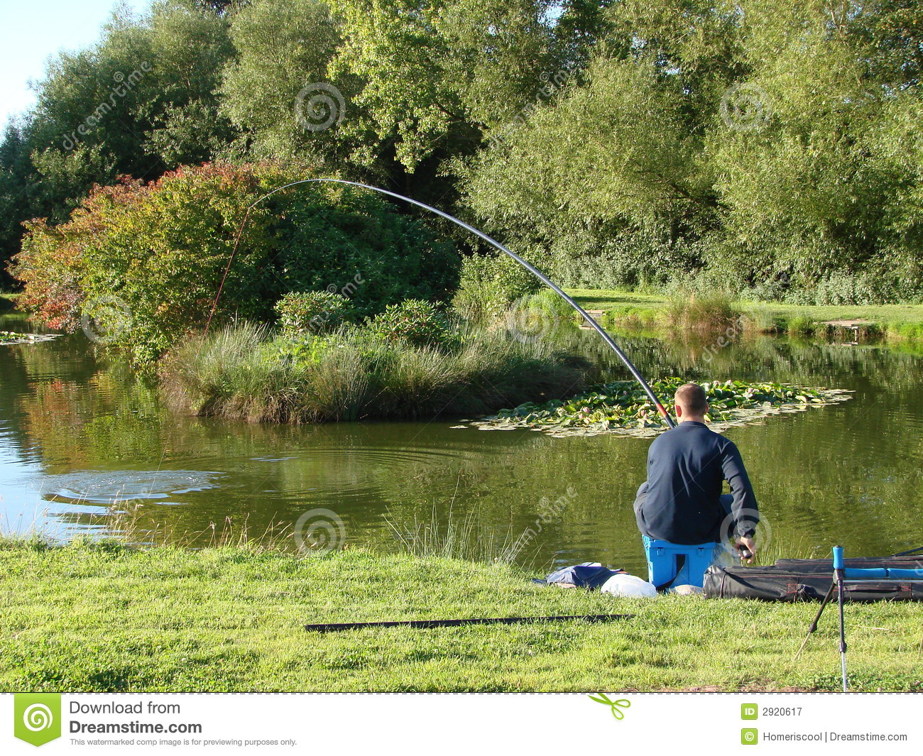Pole fishing for carp stock image image of relax stress for Fishing for carp
