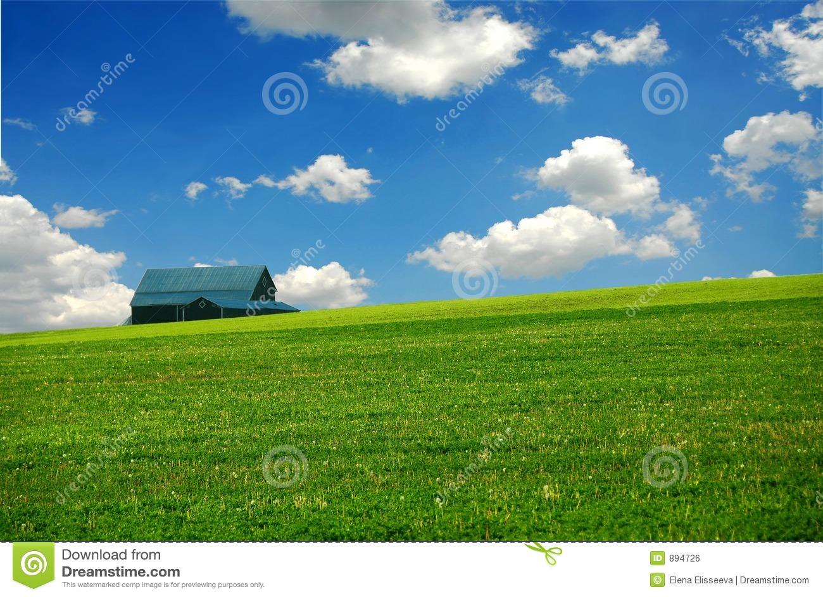 Pole stodole rolnych