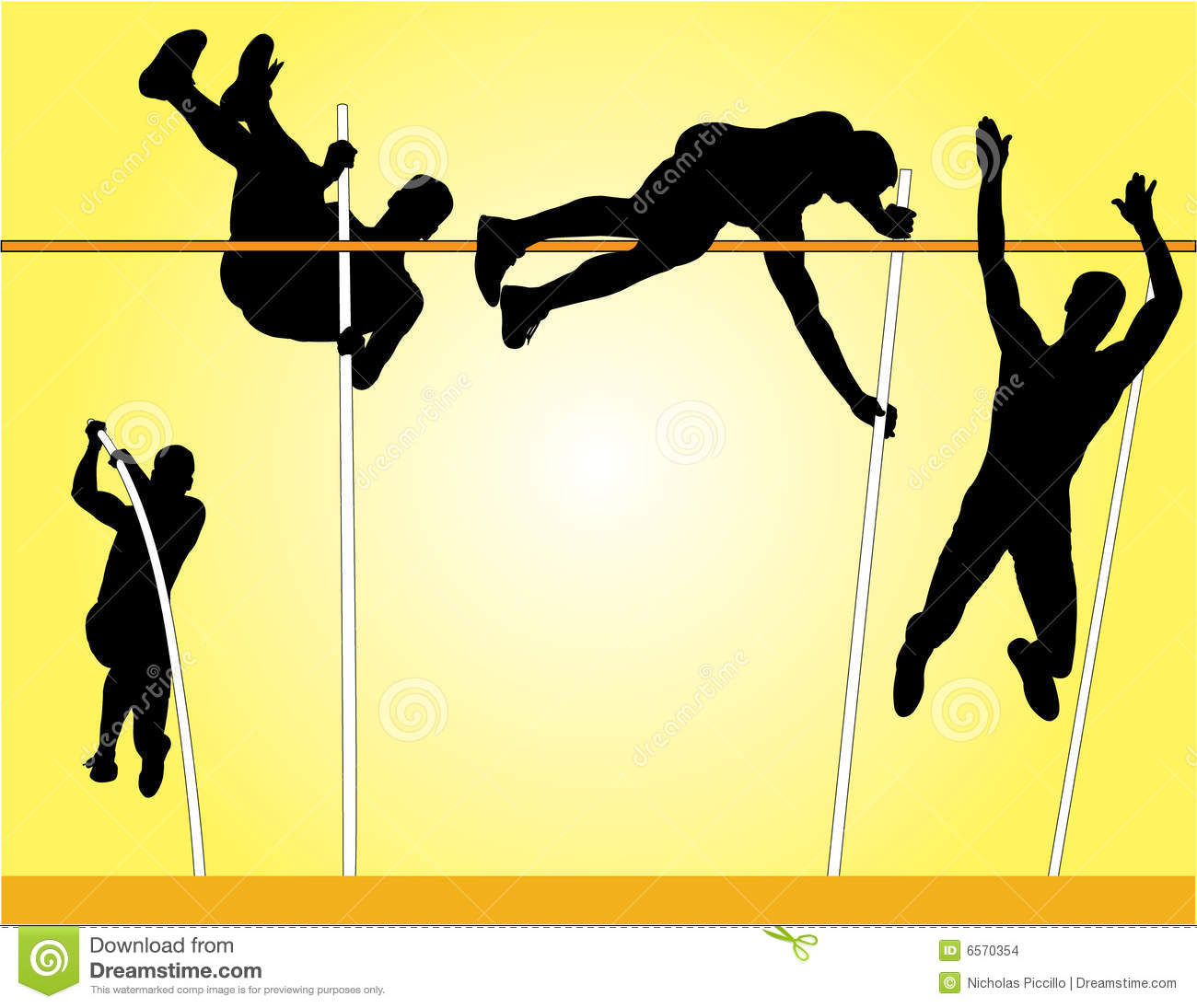 pole vault vector stock vector illustration of people Running Clip Art Free Track and Field Shoes Clip Art