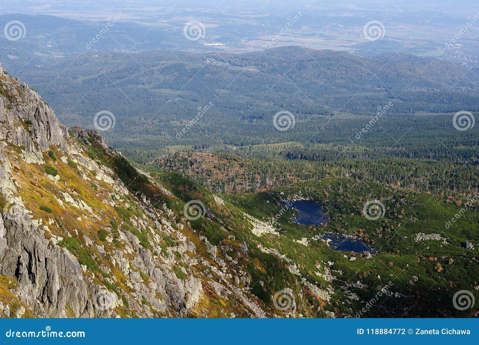 Polen-Landschaften von Karkonosze-Bergen