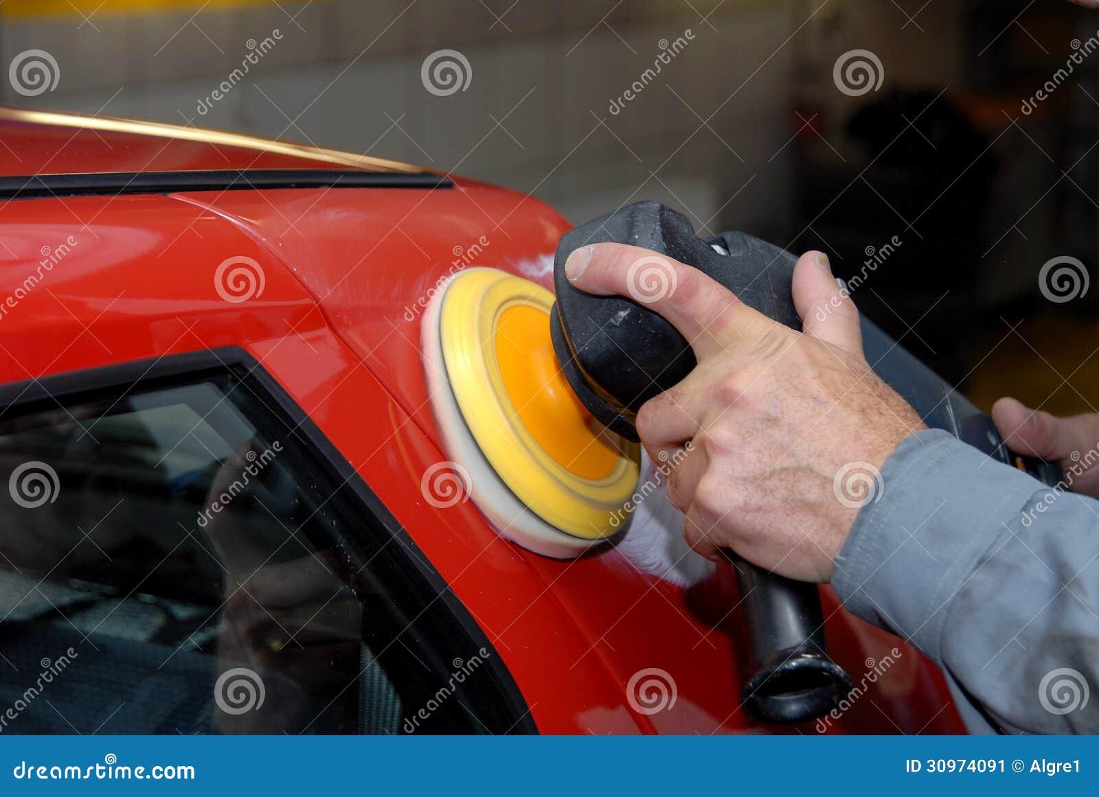 Polering av en bil