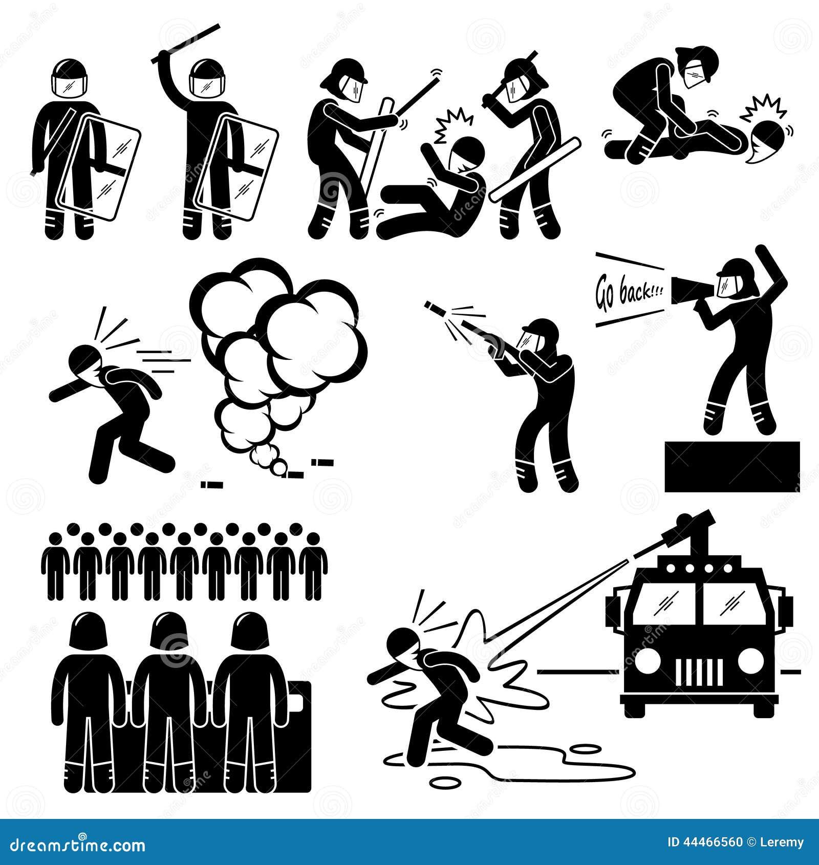 Policía antidisturbios Cliparts