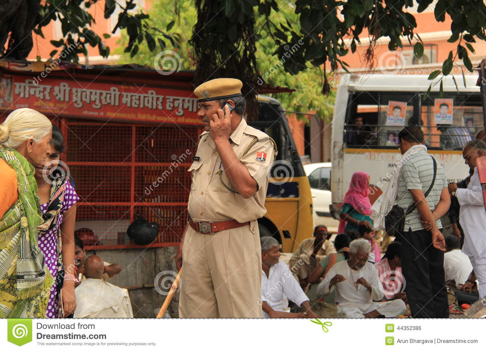 Policaman attento