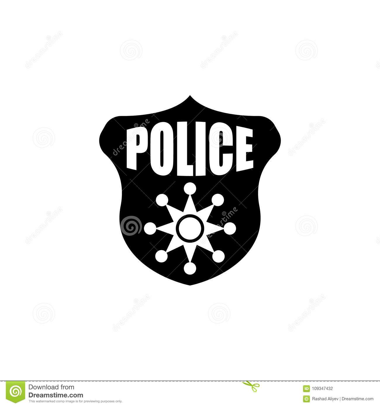 Police Badge Icon Element Of Police Profession Icon Premium