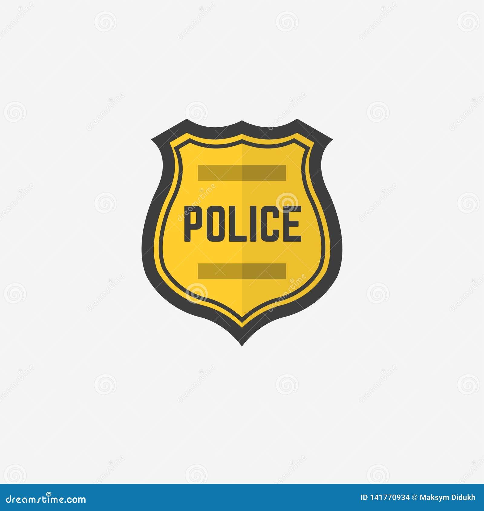 Police badge. Icon police badge. Vector illustration. EPS 10