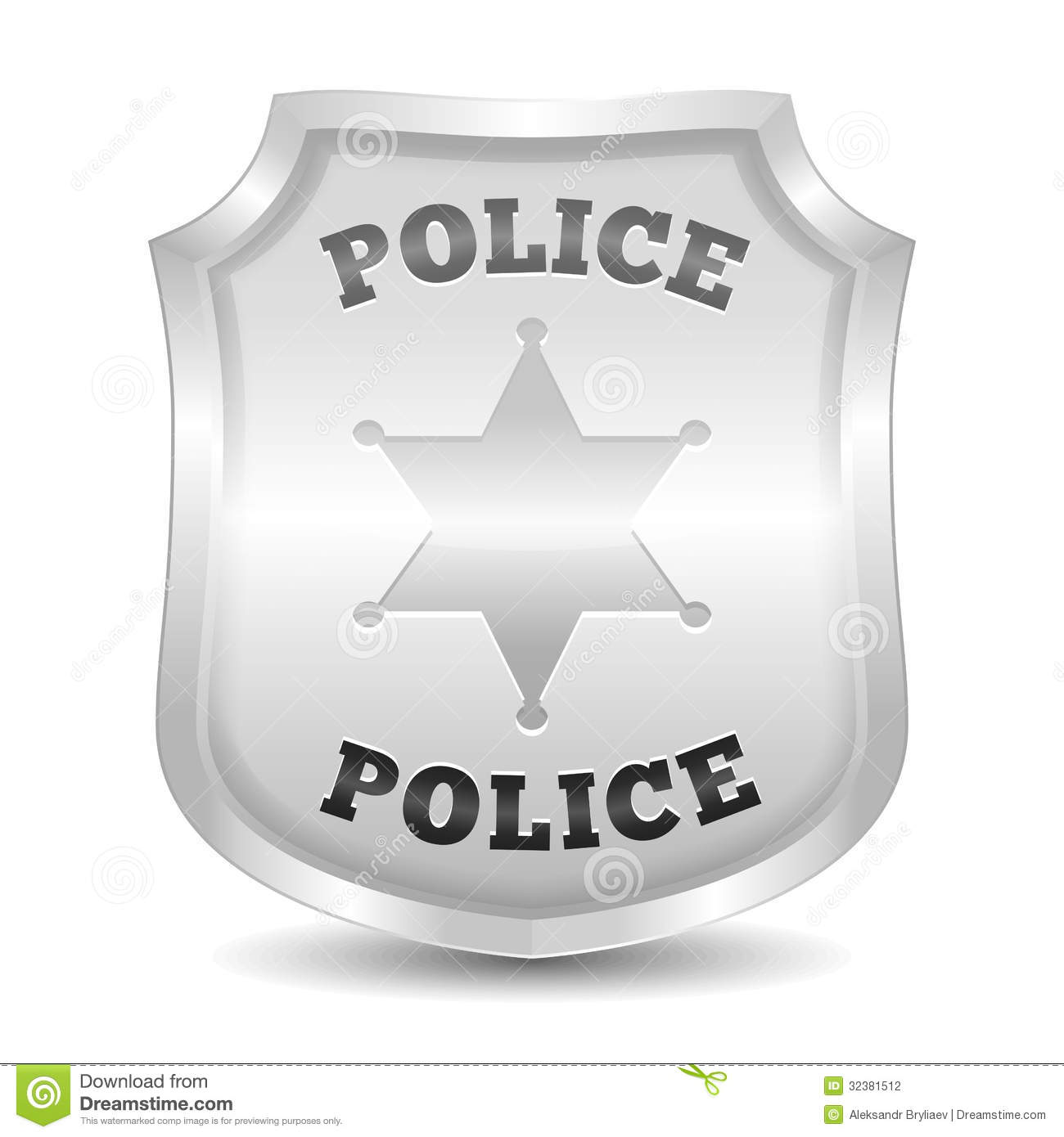 police badge stock photography image 32381512