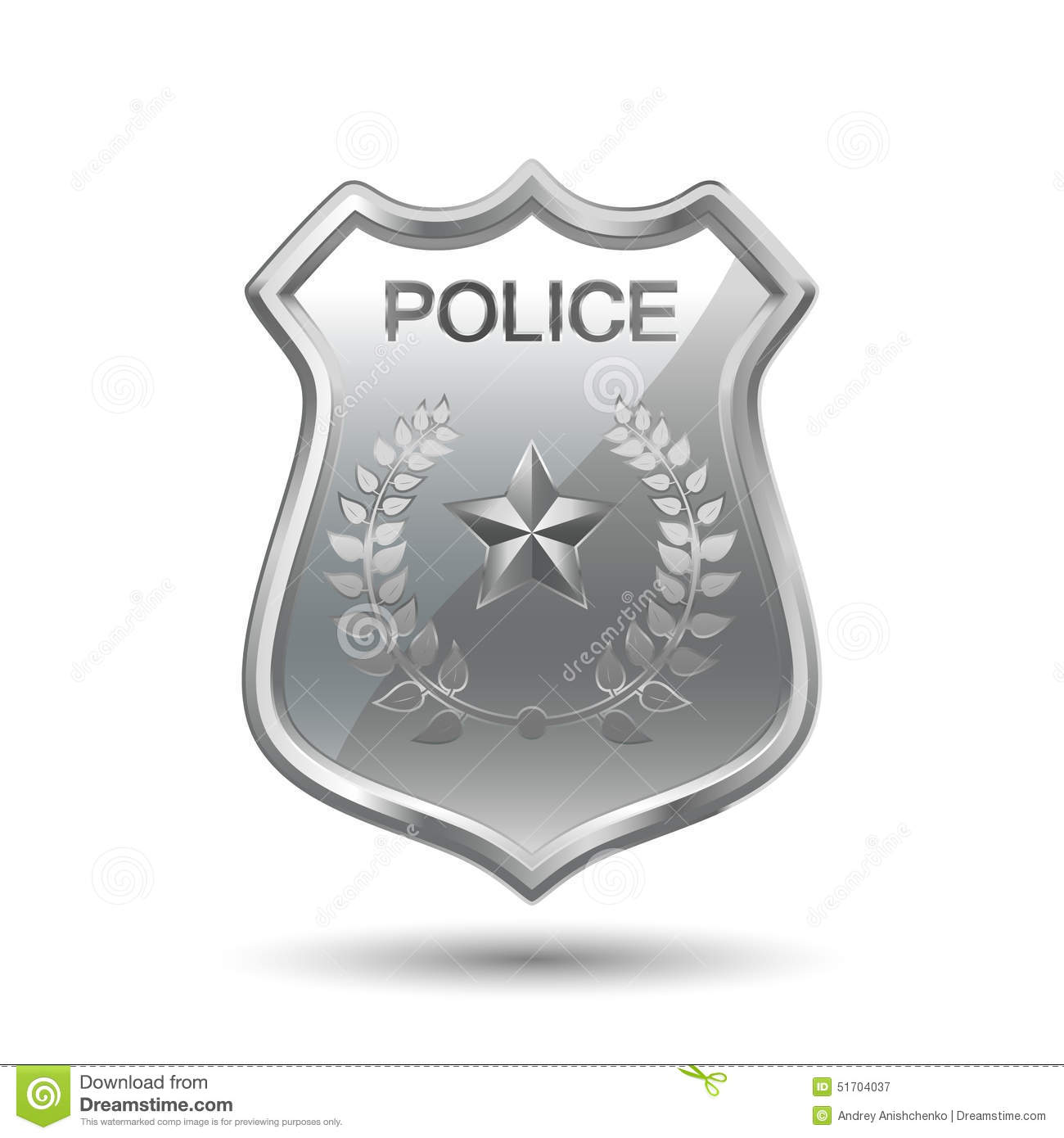 police badge stock vector image 51704037
