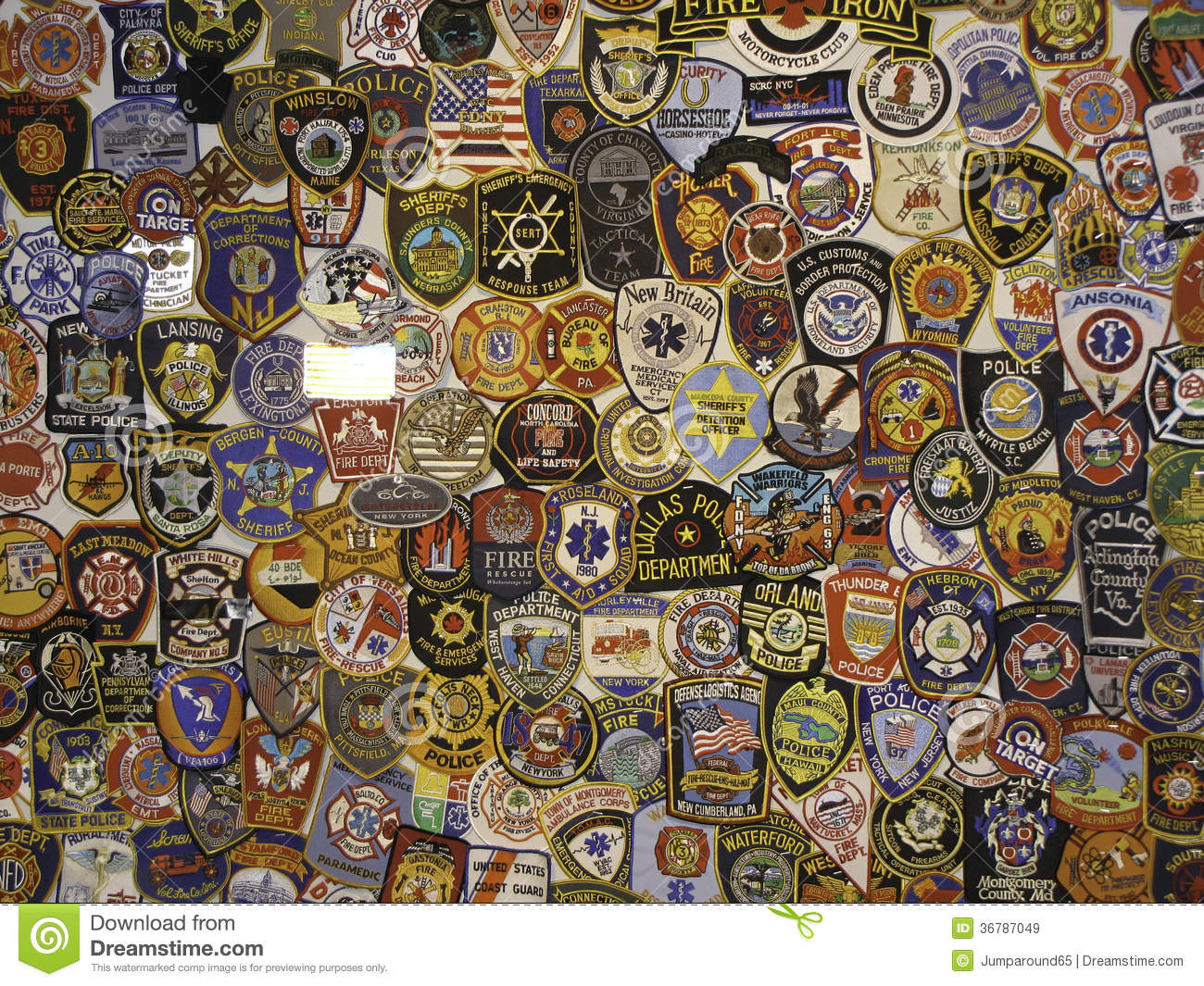 Police badges and patches