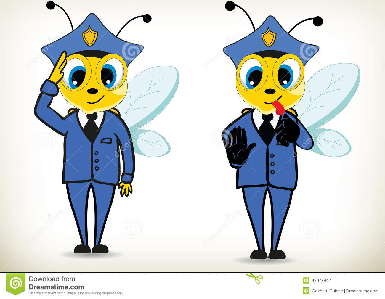 Police Bee Stock Vector - Image: 48978947
