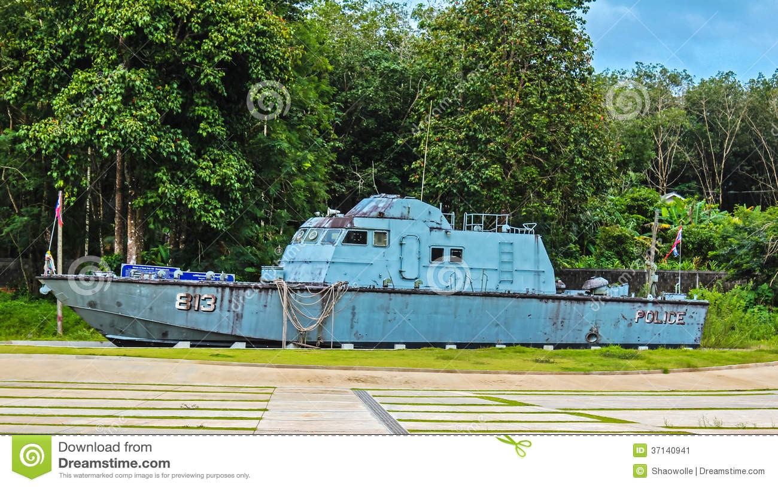 Police Boat 813 At Bang Niang/Khao Lak Editorial Photo - Image: 37140941