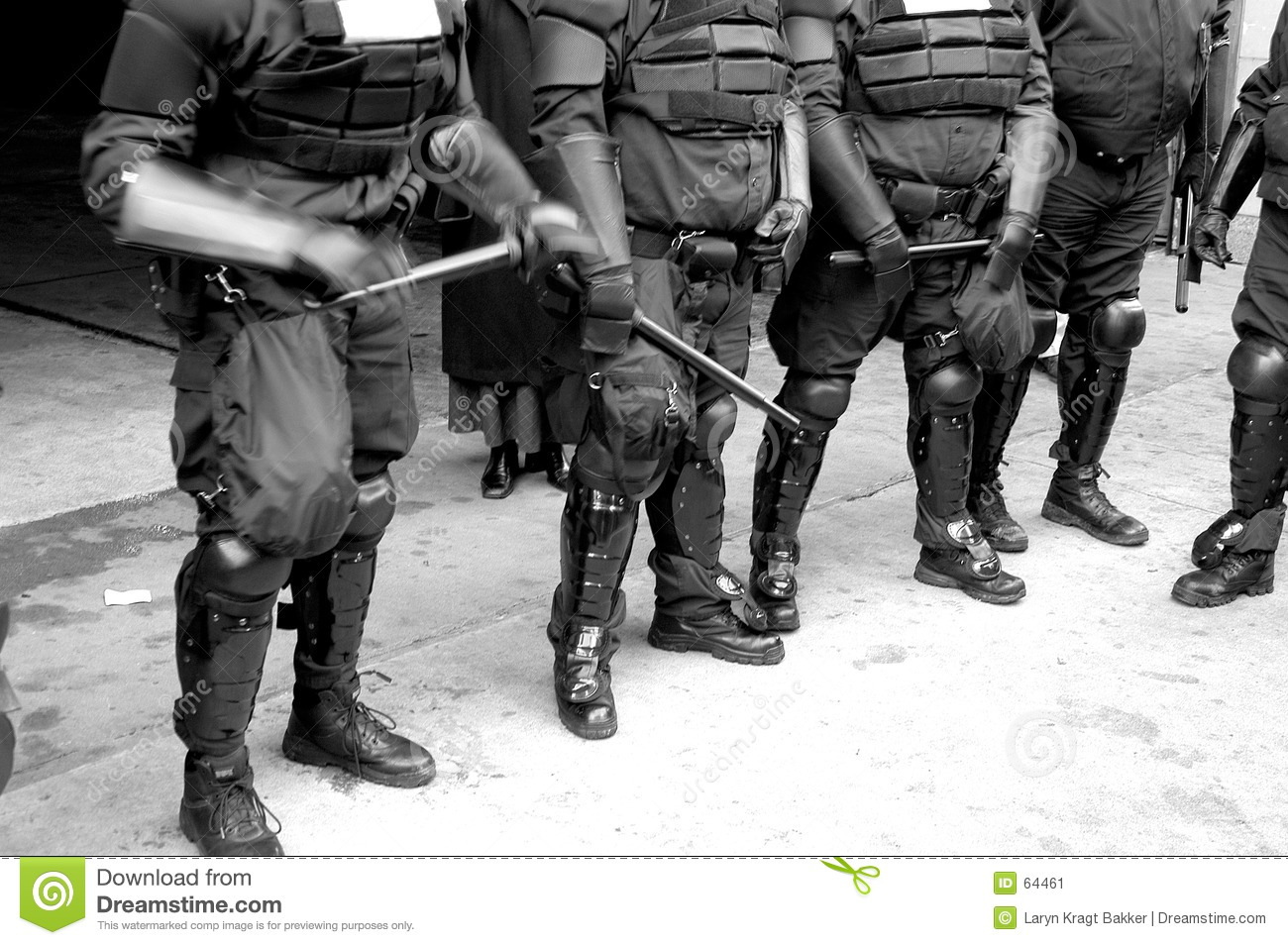 Police bodies in riot gear