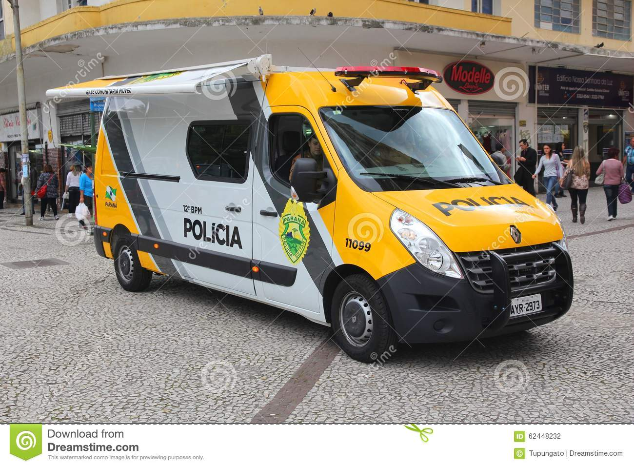 Police in Brazil editorial photography  Image of parana