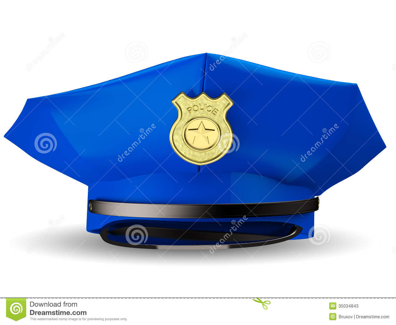 Police Hat Cake Picture