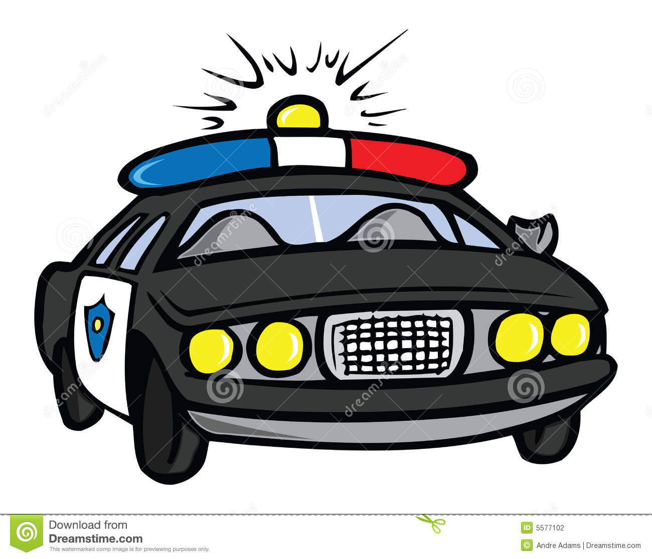 Police Car Stock Photography - Image: 5577102