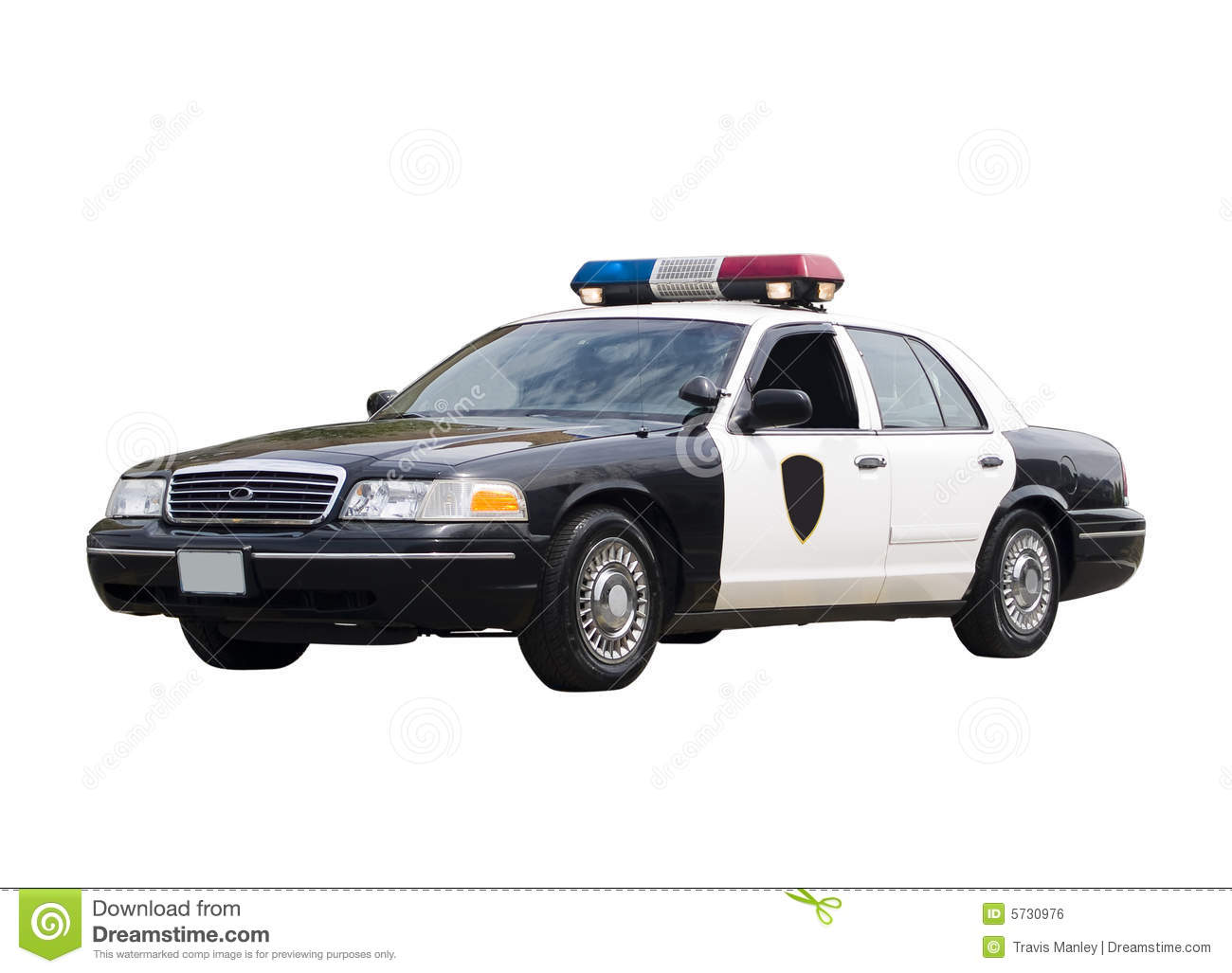 Police Car Royalty Free Stock Image - Image: 5730976