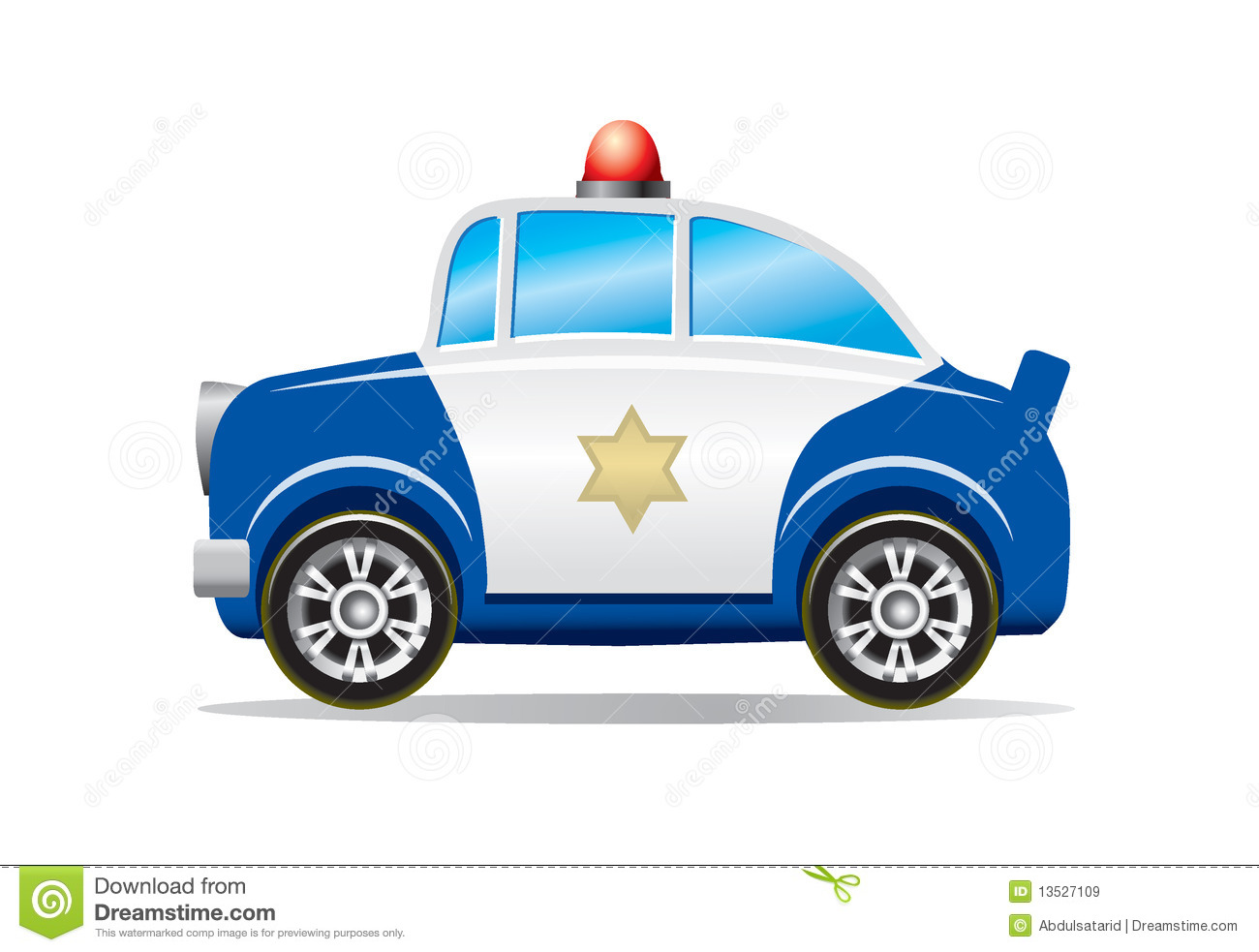 Police Car Cartoon Royalty Free Stock Images - Image: 13527109