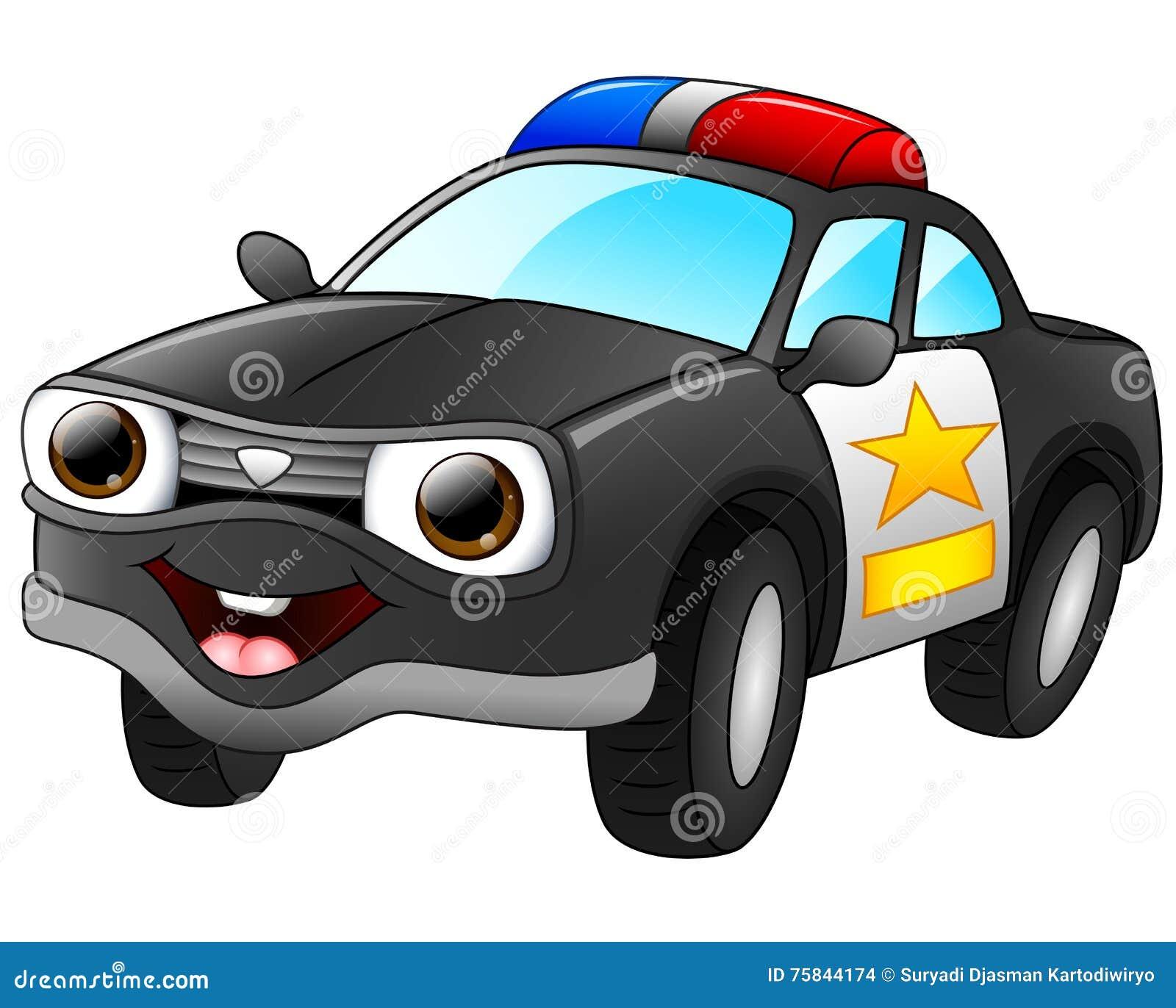 Police Car Cartoon Stock Illustrations